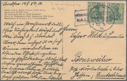 """Deutsche Schiffspost Im Ausland - Seepost: 1914 DR 2x 5 Pf Auf Ansichtskarte Des """" Dampfers Vaterlan - Allemagne"""
