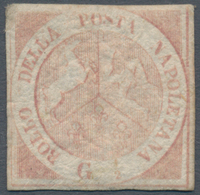 Italien - Altitalienische Staaten: Neapel: 1858, 1/2 Grana, First Plate, Light Pink, Mint With Origi - Naples