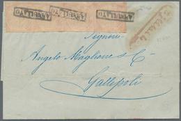 Italien - Altitalienische Staaten: Neapel: 1858, ½ Gr Dull Purple-rose, Plate I, Horizontal Strip Of - Naples