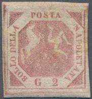 Italien - Altitalienische Staaten: Neapel: 1858, 2 Grana Light Rose, First Plate, Nice Margins, Fres - Naples