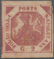 Italien - Altitalienische Staaten: Neapel: 1858, 2 Gr Purple Rose Unused With A Small Rest Of Hinge, - Naples