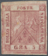 Italien - Altitalienische Staaten: Neapel: 1858, 5 Gr Carmine-rose Unused With A Rest Of Hinge, The - Naples