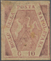 Italien - Altitalienische Staaten: Neapel: 1858, 10 Grana Brownish Rose, Mint With (partly) Gum, Rep - Naples
