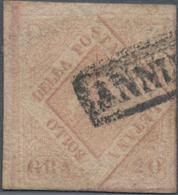 Italien - Altitalienische Staaten: Neapel: 1858, 20 Gr Lilac-rose Cancelled With Frame Postmark, On - Naples