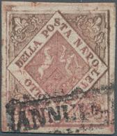 """Italien - Altitalienische Staaten: Neapel: 1858, 20 Gr, Good Margins, Framed """"ANNULLATO"""" Cancel, Oxi - Naples"""