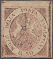 Italien - Altitalienische Staaten: Neapel: 1858. 50 Grana Brownish Rose, Mint With Original Gum, Thr - Naples