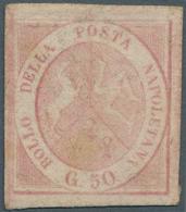 Italien - Altitalienische Staaten: Neapel: 1858, 50 Grana Light Pink Carmine Unused Without Gum, All - Naples
