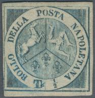 Italien - Altitalienische Staaten: Neapel: 1860, Trinacria ½t. Blue, Close To Wide Margins, Mint Ori - Naples
