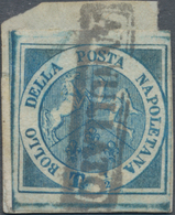 "Italien - Altitalienische Staaten: Neapel: 1860, ½t. Blue ""Trinacria"", Fresh Colour And Full To Wide - Naples"