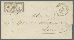 Italien - Altitalienische Staaten: Neapel: 1861, 1 Grana Light Grey (grigio Chiaro, Sassone 19 Da), - Naples