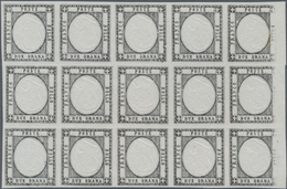 Italien - Altitalienische Staaten: Neapel: 1861 (ca), 2 Gr, Proof In Black, With Inverted Embossing, - Naples