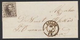 Médaillon Dentelé - N°14 Sur LSC Obl Pt 108 çàd Eecloo (1866) > Gand. Superbe Frappe - 1863-1864 Medaillons (13/16)