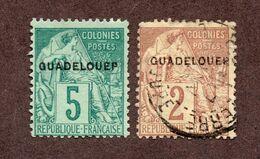 Guadeloupe N°15 Ad,17Ad Oblitéré TB  Cote 50 Euros !!! - Usados