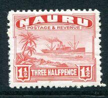 Nauru 1924-48 Freighter - Shiny Paper - 1½d Scarlet HM (SG 28B) - Nauru