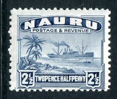 Nauru 1924-48 Freighter - Shiny Paper - 2½d Dull Blue HM (SG 30B) - Nauru