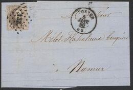 Médaillon Dentelé - N°14 Sur LAC Obl Pt 133 çàd Fosses 5/1/66 > Namur - 1863-1864 Medaillons (13/16)