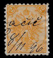 "BOSNIA-AUSTRIA, ""COAT OF ARMS"" 2nd PLATE 2 Kr PURACIC MANUSCRIPT 1896 RARE!!!!!!!!!!! - Bosnia And Herzegovina"