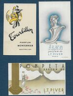 Lot De 3 Cartes Parfumées - Anciennes (jusque 1960)