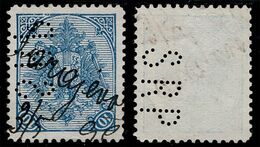 "BOSNIA-AUSTRIA, ""COAT OF ARMS"" 2nd PLATE 10 Kr SARAJEVO MANUSCRIPT & PERFIN / PERFINS ""SRP"" 1896 RARE!!!!!!!!!!! - Bosnia And Herzegovina"