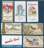 Lot De 7 Cartes Parfumées - Parfumkaarten