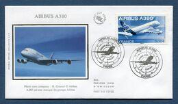 France - FDC - Premier Jour - Poste Aérienne - YT PA N° 69 - Airbus A 380 - 2006 - 2000-2009
