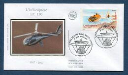 France - FDC - Premier Jour - Poste Aérienne - YT PA N° 70 - L'hélicoptère EC 130 - 2007 - 2000-2009