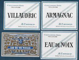 Toulouse -Lot De 4 étiquettes - Labels