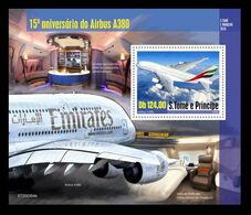 Sao Tome And Principe 2020 Mih. 8830 (Bl.1613) Aviation. Airbus A380 MNH ** - Sao Tome And Principe
