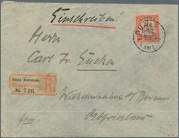 Deutsche Kolonien - Kamerun: 1896/1908, Vorläuferbrief 1896 Aus Kribi Mit Paar Der 20 Pfg. Krone/Adl - Colonie: Cameroun