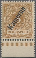 Deutsche Kolonien - Kamerun: 1898, 3 Pfg. Hellocker Mit Diagonalaufdruck, Farbfrischer Wert Der Selt - Colonie: Cameroun