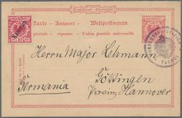 Deutsche Kolonien - Kamerun - Ganzsachen: 1897, Vorläufer-Karte 10 Pfg. Krone/Adler (Antwortteil) Mi - Colonie: Cameroun