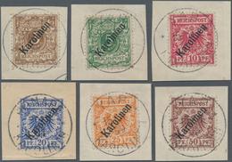 Deutsche Kolonien - Karolinen: 1899, 3Pfg. - 50Pfg. Freimarken Mit Diagonalem Aufdruck, Kompletter S - Colonie: Carolines