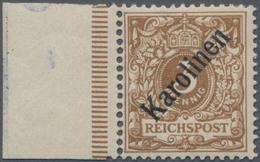 Deutsche Kolonien - Karolinen: 1899, 3 Pf. Orangebraun Mit Diagonalem Aufdruck 'Karolinen' (48°), Un - Colonie: Carolines