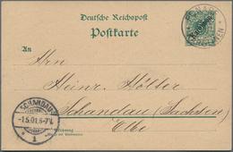 Deutsche Kolonien - Karolinen - Ganzsachen: 1899, Kompletter Gebrauchter Ganzsachenpostkartensatz De - Colonie: Carolines
