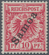Deutsche Kolonien - Samoa: 1900. 10 Pf Krone/Adler, Lilarot, Aufdruck. Befund Jäschke-L. BPP (2020): - Colonie: Samoa