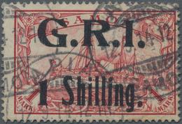 """Deutsche Kolonien - Samoa - Britische Besetzung: 1914, 1 """"Shilling"""" Auf 1 Mark Rot, Farbfrisches Exe - Colonie: Samoa"""