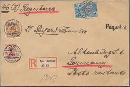 """Deutsche Kolonien - Samoa - Stempel: Paquebot, 1909, Niue Drei Werte Mit Stempel """"APIA 25.1.09"""" Mit - Colonie: Samoa"""