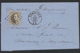 Médaillon Dentelé - N°14 Sur LAC Obl Pt 144 çàd Gembloux 13/11/65 > Dampremy, Directeur Du Charbonnage. - 1863-1864 Medaillons (13/16)