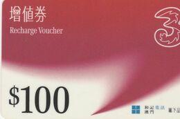Macau - Recharge Voucher 100$ - Macao