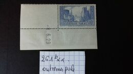 FRANCE N°261b** Coin Daté Du 8/6/29   TYPE I - ....-1929
