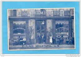 """MARSEILLE-place Sébastopol-carte Photo  Café  """"à La Mominette""""-terrasse Animée  Années 20 - Cinq Avenues, Chave, Blancarde, Chutes Lavies"""
