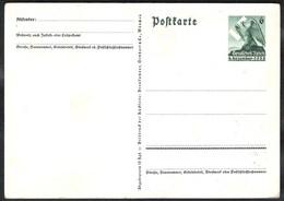 Ganzsache (Mi) P 275 Sonderkarte Aus Anlaß Der Abstimmumg Im Sudetenland 1938 - Stamped Stationery