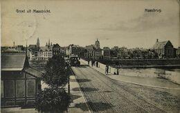 Maastricht // Groet Uit // Maasbrug Met Paardentram 1911 - Maastricht