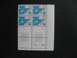 Bloc De 4 Coin Daté:  08.01.1988 Du PO N° 198, Neuf XX . - Vorausentwertungen