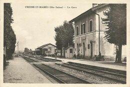 Fresne -St-Mamès  (70 - Haute Saône)  La Gare - France