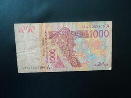 CÔTE D'IVOIRE : ÉTAT DE L'AFRIQUE DE L'OUEST : 1000 FRANCS   (20)12    P 115A      TTB Sale * - Costa D'Avorio