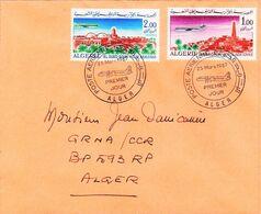 Algérie 1er Jour FDC YT PA 15/16 El Oued, Ghardaia Alger 25/03/67 - Algeria (1962-...)