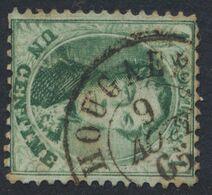"""Médaillon Dentelé - N°13 Obl Double Cercle """"Hougaerde"""" - 1863-1864 Medaglioni (13/16)"""