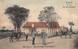 France Cafe Du Pont De Balinghem Maison Buche-Poiret Postcard - Ardres