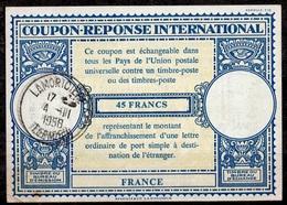 ALGERIE ALGERIA FRANCELo16n 45 FRANCSInternational Reply Coupon Reponse Antwortschein IAS IRC O LAMORICIEN TLEMCEN - Covers & Documents